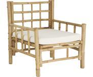 Bamboehouten fauteuil Mandisa met zitkussen