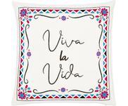 Kleurrijk geborduurde kussenhoes Viva la Vida