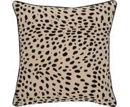 Kussenhoes Leopard met zwarte bies