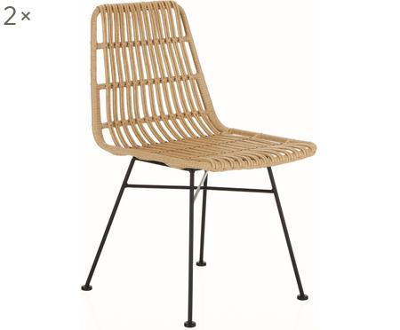 Polyrotan stoelen Costa, 2 stuks