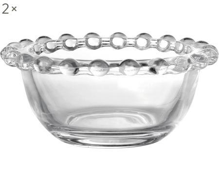 Kleine glazen schaaltjes Perles, 2 stuks