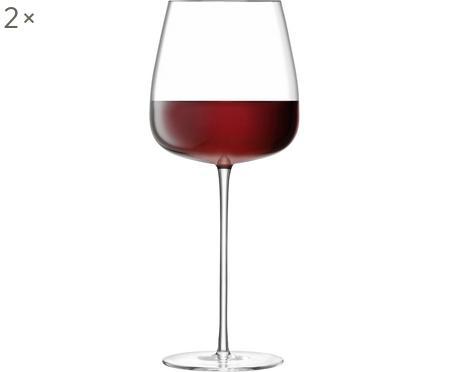 Mondgeblazen rode wijnglazen Wine Culture, 2 stuks