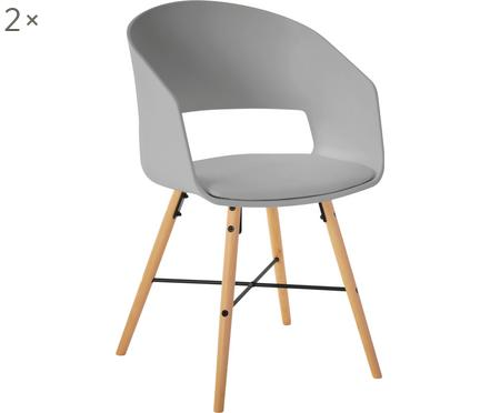 Armstoelen Luna in Scandi design, 2 stuks