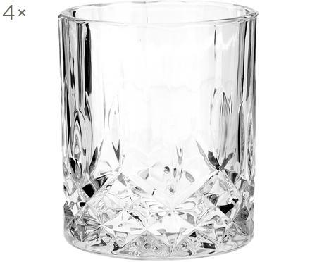 Glazen George met kristalreliëf, 4 stuks