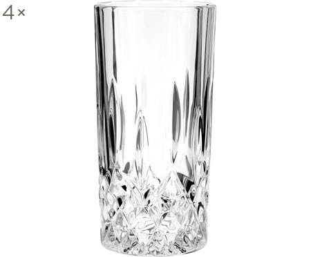Longdrinkglazen George met kristalreliëf, 4 stuks