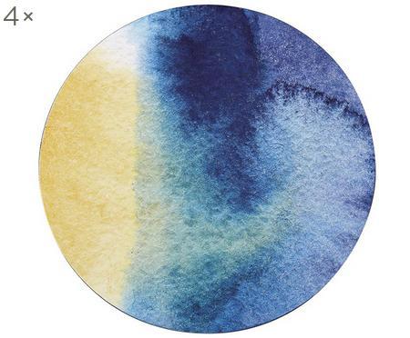 Ronde placemats Inky, 4 stuks