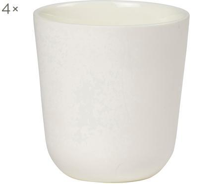 Beker Nudge in wit mat/glanzend, 4 stuks