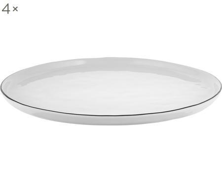 Handgemaakte dinerborden Salt, 4 stuks