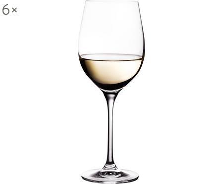 Kristallen witte wijnglazen Harmony, 6 stuks