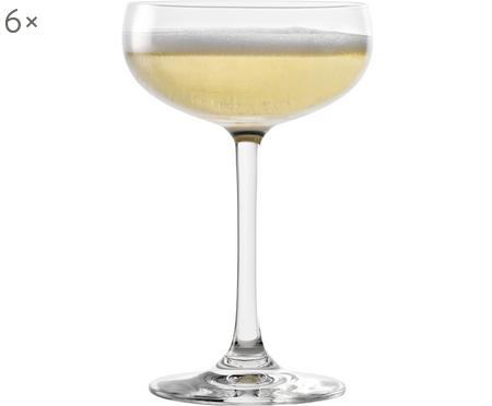 Kristallen champagneglazenset Elements, 6-delig