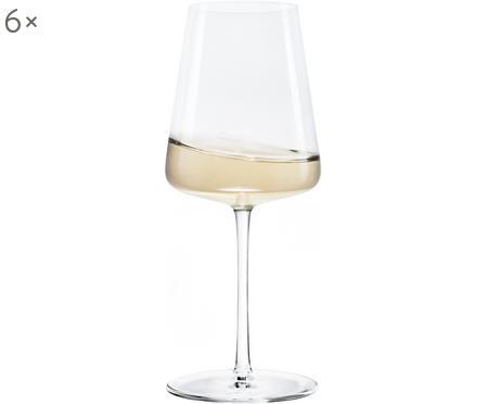 Kristallen witte wijnglazen Power, 6 stuks