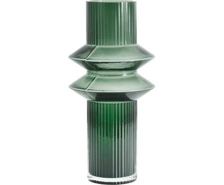 Transparante glazen vaas Rilla met een groene glans