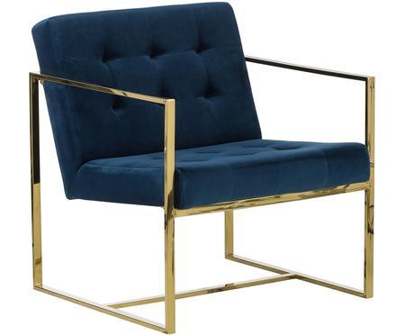 Fluwelen fauteuil Manhattan