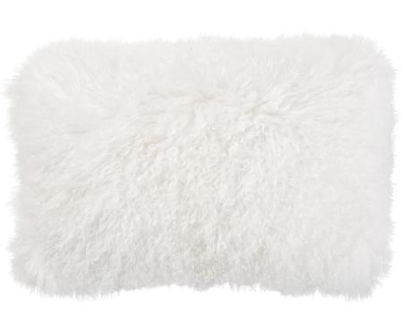 Kussenhoes van langharige schapenvacht Ella