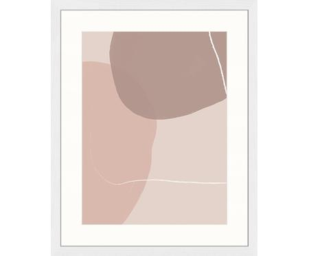 Ingelijste digitale print Abstract Pink