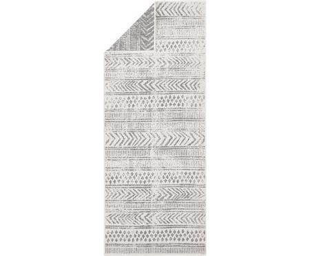 Dubbelzijdige in- en outdoor loper Biri met grafisch patroon