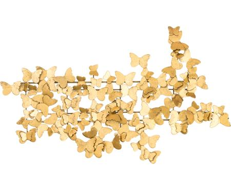 Wandobject Butterfly van metaal in antieke look