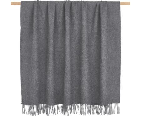 Lichte alpacawollen plaid Luxury in grijs