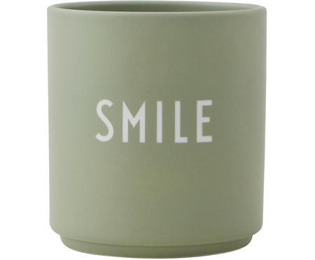 Design beker Favourite SMILE met opschrift in mintgroen