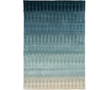 Handgetuft Design vloerkleed Acacia met kleurverloop in blauw