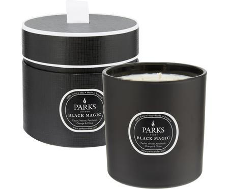 3-lonts-geurkaars Black Magic (cederhout, vetiver & patchouli)