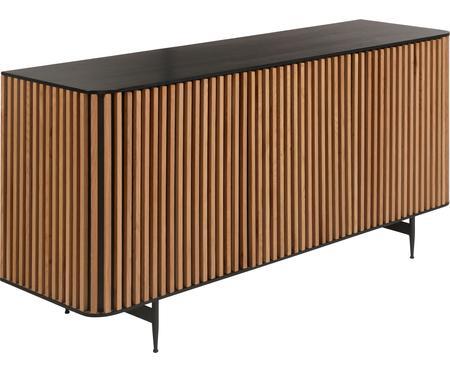 Design dressoir Linea met deuren en eikenhoutfineer