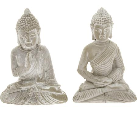 Decoratieve objectenset Buddha, 2-delig