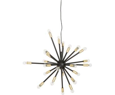 Grote hanglamp Spike in zwart en goudkleurig