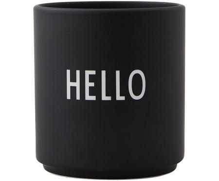 Design beker Favourite HELLO met opschrift in zwart