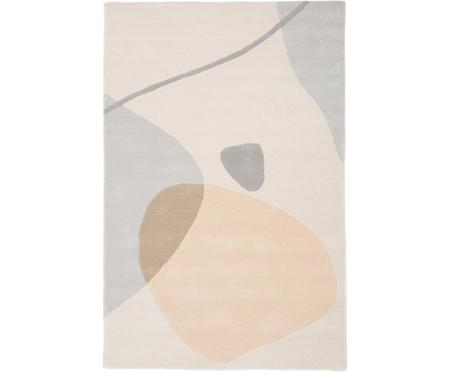Handgetuft wollen vloerkleed Luke met abstract patroon