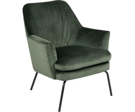 Fluwelen fauteuil Chisa in groen