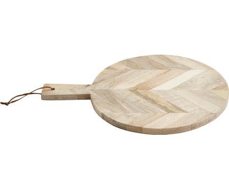 Mangohout-snijplank Herringbone, Ø 32 cm