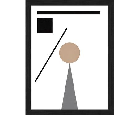 Ingelijste digitale print Abstract Minimalist