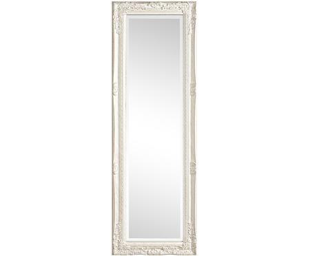 Rechthoekige wandspiegel Miro met witte houten lijst