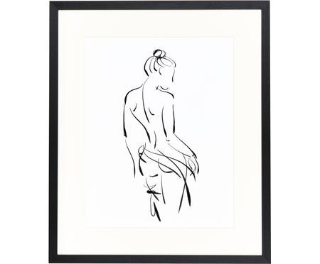 Ingelijste digitale print Naked Woman
