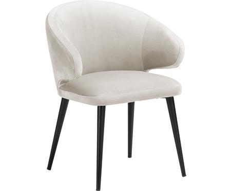 Fluwelen armstoel Celia in modern design