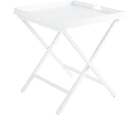 Inklapbaar dienbladtafel Vero in wit