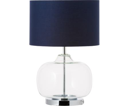 Tafellamp Amelia van glas en katoen
