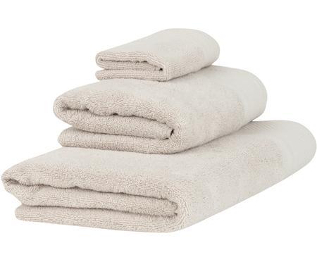 Handdoekenset Premium met klassiek sierborduursel, 3-delig