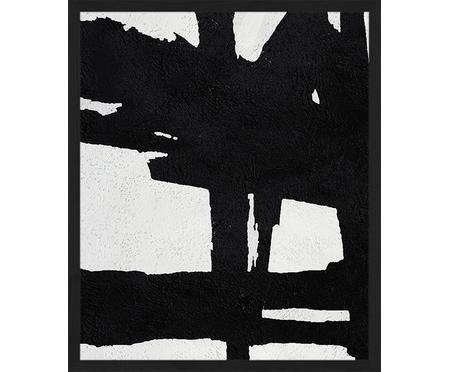 Ingelijste digitale print Abstract zwart