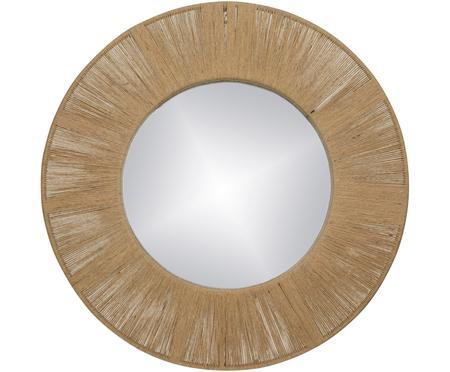 Ronde wandspiegel Finesse met frame van natuurlijke vezels