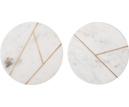 Marmeren bordenset Marble Ø 18 cm, 2-delig