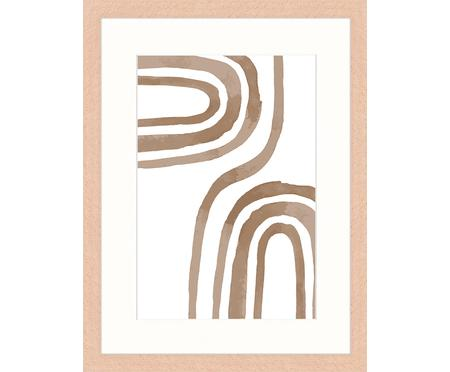 Ingelijste digitale print Modern Poster