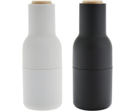 Designer peper- en zoutmolen Bottle Grinder met houten deksel