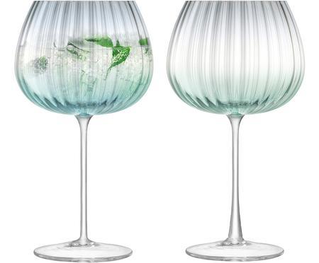 Handgemaakte wijnglazen Dusk met kleurverloop, 2-delig