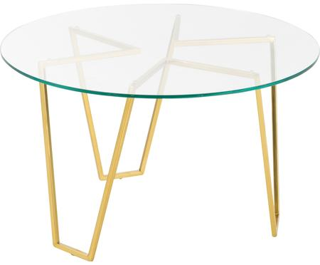 Ronde salontafel Scarlett met glazen tafelblad