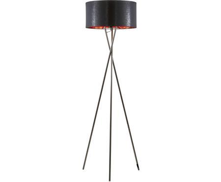 Driepoot vloerlamp Giovanna met koperen decoratie