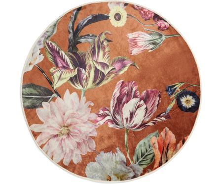 Rond vloerkleed Filou met bloemmotief