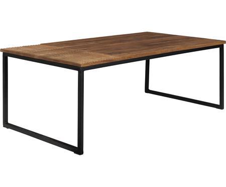 Massief houten salontafel Randi in industrieel design