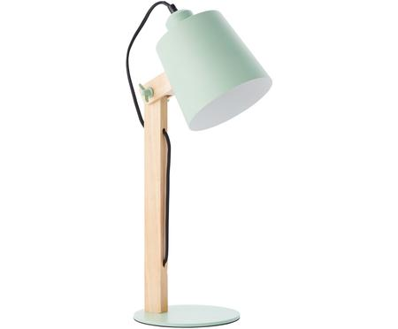 Grote Scandi tafellamp Swivel met houten voet